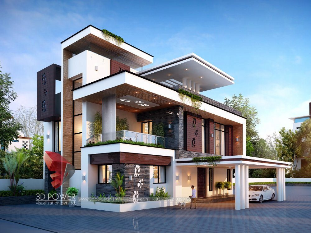 Architectural visualization visualizing architecture - Images of exterior house designs ...
