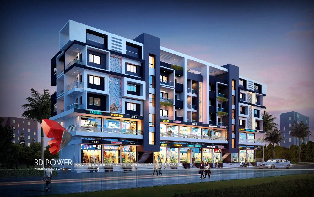 Apartment Design Rendering | 3D Contemporary Modern ...