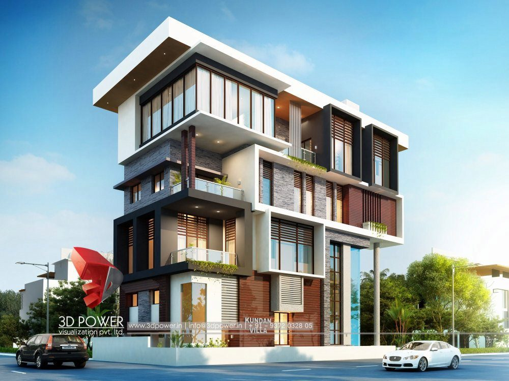 Front Elevation Mirror : Bunglow design d architectural rendering services