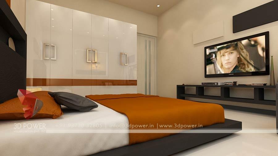 Gallery interior 3d rendering 3d interior for Full bedroom interior design