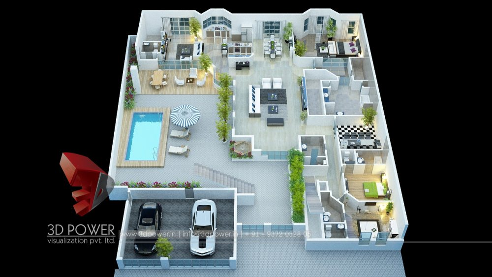 3d Floor Plan Rendering 3d Power